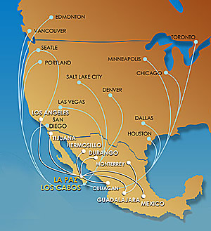 map of airline paths